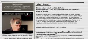 Screenshot from Eddie Gilfoyle's campaign website
