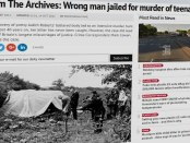 Screenshot of Birmingham Mail website showing Andrew Evans case onscreen