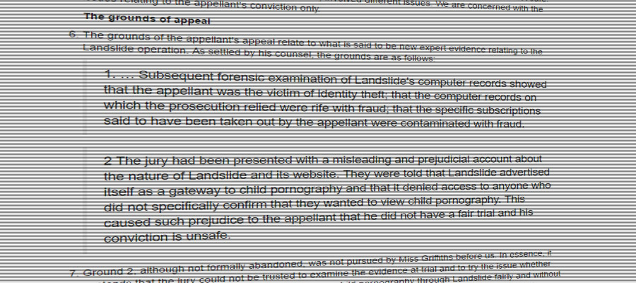 Screenshot of the R v Anthony O'Shea judgement