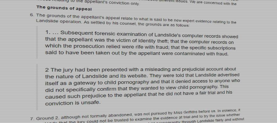 Screenshot of the R v Anthony O'Shea judgement