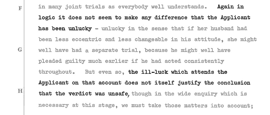A screenshot from the Appeal Court judgement